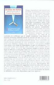 Arretez de fumer definitivement grace a l'auto-hypnose - 4ème de couverture - Format classique
