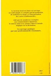 La cartomancie pratique ; tirage et interprétation - 4ème de couverture - Format classique