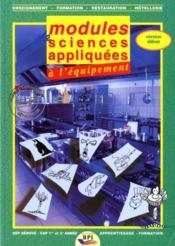 Modules sciences appliquées à l'équipement ; BEP/CAP ;livre de l'élève - Couverture - Format classique