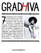 Revue Gradhiva N.7 - Couverture - Format classique