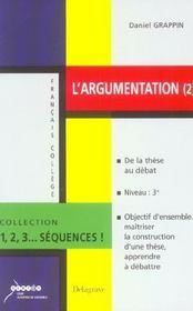 L'Argumentation T.2 - Intérieur - Format classique