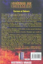 Escrocs et voleurs - 4ème de couverture - Format classique