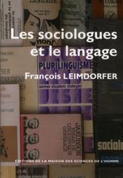 Les sociologues et le langage - Couverture - Format classique