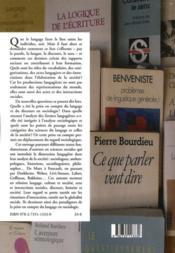 Les sociologues et le langage - 4ème de couverture - Format classique