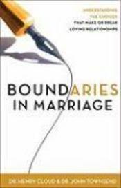 Boundaries In Marriage - Couverture - Format classique