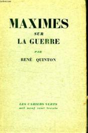 Maximes Sur La Guerre. (Am) - Couverture - Format classique
