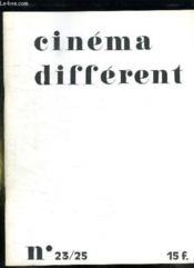 Cinema Different N° 23 - 15. Juillet Aout Septembre 1979. Sommaire: Cinema Experimental Japonais, En Guide Manifeste, Les Tres Riches Heures Du Cinema Different... - Couverture - Format classique