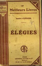Elegies. Collection : Les Meilleurs Livres N° 130. - Couverture - Format classique