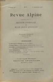 Revue Alpine Volume 22 N°3 : Les Montagnes De Manigod - Chronique Alpine.. - Couverture - Format classique