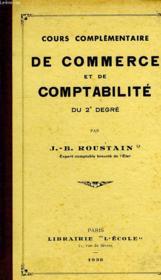 COURS COMPLEMENTAIRE DE COMMERCE ET DE COMPTABILITE DU 2e DEGRE - Couverture - Format classique