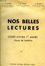 NOS BELLES LECTURES 8e - Couverture - Format classique