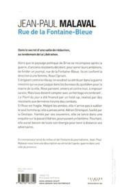 Rue de la Fontaine-Bleue - 4ème de couverture - Format classique