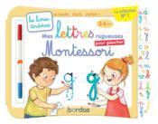 Les livres-ardoises ; mes lettres rugueuses Montessori pour gaucher ; 3/6 ans - Couverture - Format classique