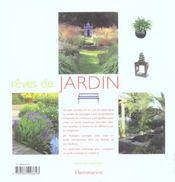 Reves de jardin - 4ème de couverture - Format classique