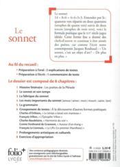 Le sonnet - 4ème de couverture - Format classique