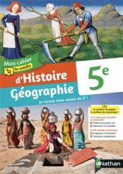 Mon cahier bi-média d'Histoire Géographie : 5e : cahier de l'élève (édition 2021) - Couverture - Format classique