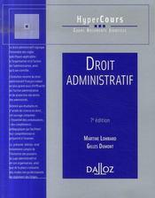 Droit administratif (7e édition) - Intérieur - Format classique