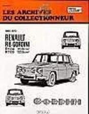 Renault 8 Gordini (1965/1970) N 25 - Couverture - Format classique