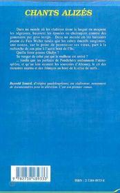 Chants Alizes - 4ème de couverture - Format classique