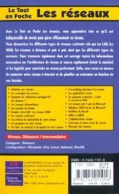 Le Tout En Poche Les Reseaux - 4ème de couverture - Format classique