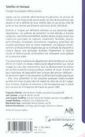 Tutelles et réseaux ; changer les pratiques médico-sociales - 4ème de couverture - Format classique
