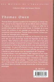 Thomas Owen T.1 - 4ème de couverture - Format classique