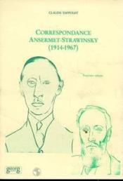 Correspondance 3 Ansermet-Strawinsky 1914-1917 - Couverture - Format classique