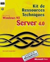Kit De Ressources Techniques Windows Nt Server 4.0 - Couverture - Format classique