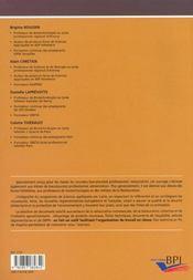 Sciences Appliquees Bnac ; Restauration Alimentation - 4ème de couverture - Format classique