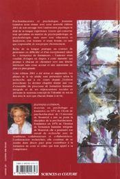 Vers l'autonomie psychique - de la naissance a la mort - 4ème de couverture - Format classique