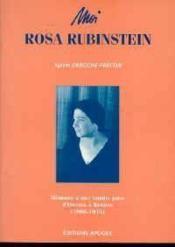 Moi rosa rubinstein - Couverture - Format classique