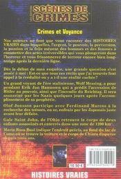 Crimes et voyance - 4ème de couverture - Format classique