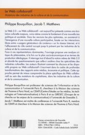 Le web collaboratif ; mutations des industries de la culture et de la communication - 4ème de couverture - Format classique