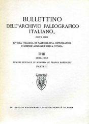 Bulletin dell' archivio paleografico italiano. - Intérieur - Format classique