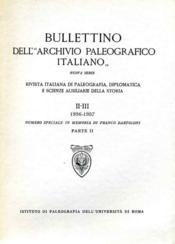 Bulletin dell' archivio paleografico italiano. - Couverture - Format classique