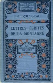 Lettres écrites de la Montagne. - Couverture - Format classique