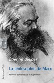La philosophie de Marx - Couverture - Format classique