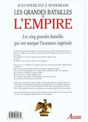 Les Grandes Batailles De L'Empire - 4ème de couverture - Format classique