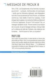 Message de Frolix 8 - 4ème de couverture - Format classique