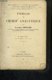 PRECIS DE CHIMIE ANALYTIQUE - 3eme édition - Couverture - Format classique