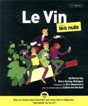 Le vin pour les nuls (12e édition) - Couverture - Format classique