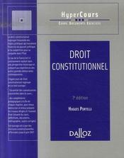 Droit Constitutionnel (7e Edition) - Intérieur - Format classique