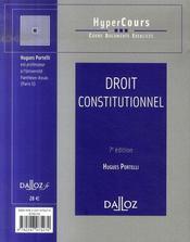 Droit Constitutionnel (7e Edition) - 4ème de couverture - Format classique