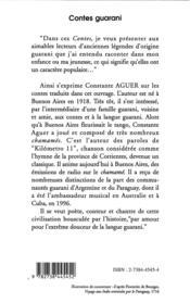 Contes guarani ; bilingues français-espagnol - 4ème de couverture - Format classique
