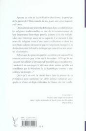 La Religion Dans La Republique Laique - 4ème de couverture - Format classique