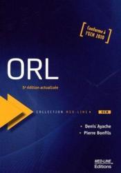 ORL (5e édition) - Couverture - Format classique