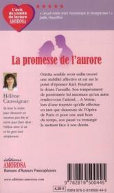 La promesse de l'aurore - 4ème de couverture - Format classique