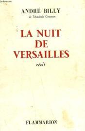 La Nuit De Versailles. - Couverture - Format classique