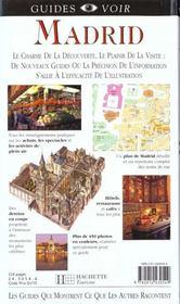 Guides Voir ; Madrid - 4ème de couverture - Format classique