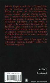 Dracula T.3 ; Le Sang Du Vampire - 4ème de couverture - Format classique